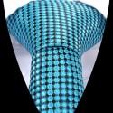 Hedvábná kravata tyrkysová se vzorem