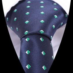 Hedvábná kravata tmavě modrá se vzorem