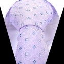 Hedvábná kravata fialová se vzorem
