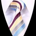 Hedvábná kravata pruhovaná