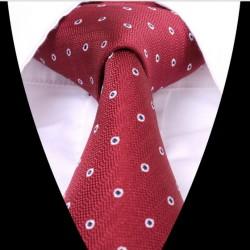 Hedvábná kravata červená se vzorem