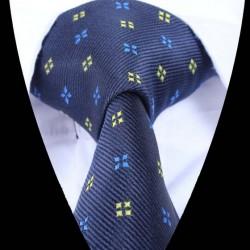 Hedvábná kravata modrá se vzorem
