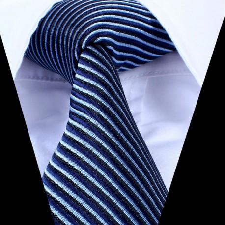 Hedvábná kravata modrá pruhovaná
