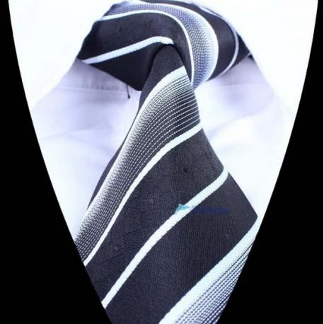 Hedvábná kravata černá se vzorem