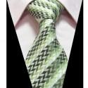 Hedvábná kravata zelená se vzorem