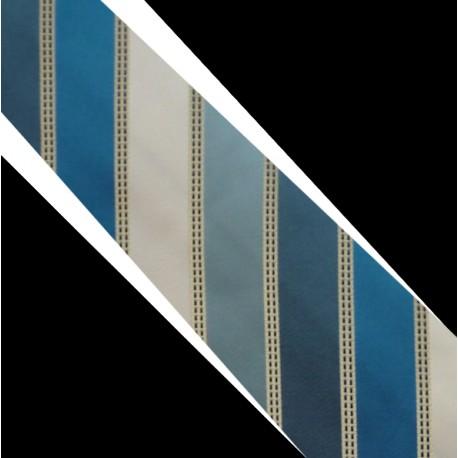 Polyesterová kravata modro bílá