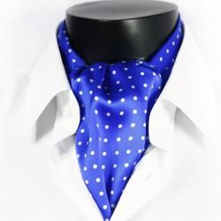 Pánská hedvábná kravatová šála modrá