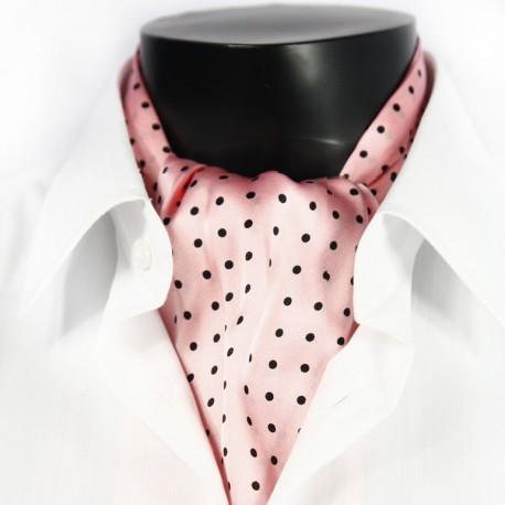 Pánská hedvábná kravatová šála růžová