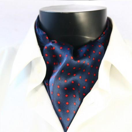 Pánská hedvábná kravatová šála tmavě modrá