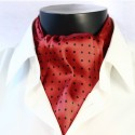 Pánská hedvábná kravatová šála červená