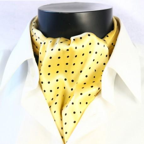 Pánská hedvábná kravatová šála žlutá