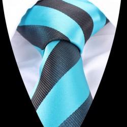 Hedvábná kravata modrá s proužkem